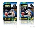 heat lamp bulb turtle - (2 Pack) Exo Terra Swamp Glo Basking Spot Lamp, 100 Watt