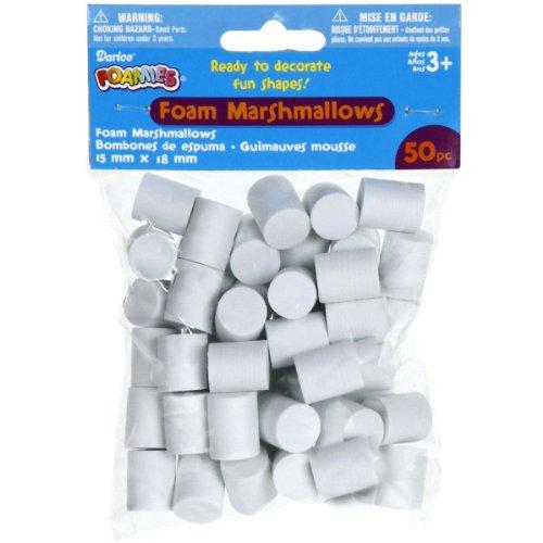 Darice Foam Marshmallow Shapes 50/Pkg-15Mmx18mm