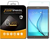 Image of Samsung Galaxy Tab A 8.0 Tempered Glass Screen Protector, Supershieldz Anti-Scratch, Anti-Fingerprint, Bubble Free, Lifetime Replacement Warranty