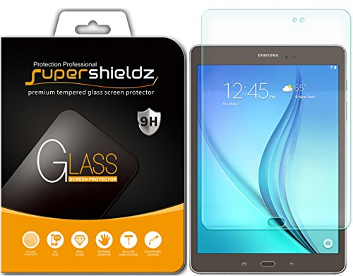 Samsung Galaxy Tab A 8.0 Tempered Glass Screen Protector, Supershieldz Anti-Scratch, Anti-Fingerprint, Bubble Free, Lifetime Replacement Warranty Image