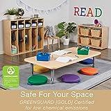 ECR4Kids SoftZone Cozy Floor Seat Cushions with