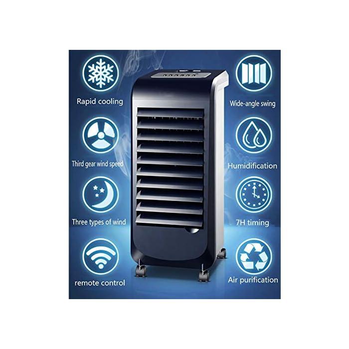 aire acondicionado portátil, enfriamiento rápido, de gran angular swing. Mini refrigerador del aire, velocidad del viento de tres velocidades, humidificación y la reposición. aire acondicionado móvil, tres tipos de viento, el tiempo 7H.