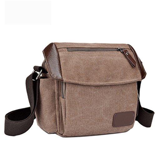 Männer Und Frauen Vintage-Canvas Schulter- Messenger Taschen Aktentasche Seiten Tasche Freizeit,A-OneSize