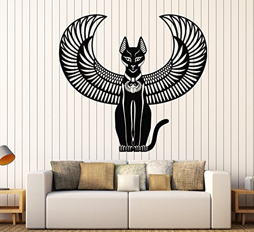 Vinyl Wall Decal Bastet Ancient Egyptian Cat Goddess Of Egypt Stickers Large Decor (2207ig) (Bastet Ancient Egypt)