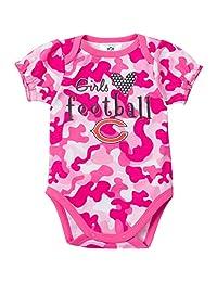 NFL Chicago Bears Girls Camo Bodysuit, 18 Months, Pink