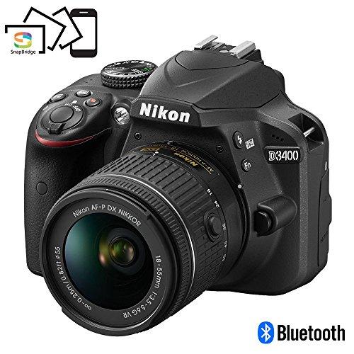 Nikon D3400 w/ AF-P DX NIKKOR 18-55mm f/3.5-5.6G VR (Black) (Out Lights Blurred Christmas)