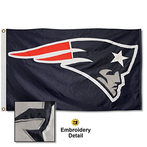 WinCraft New England Patriots Embroidered Nylon Flag -