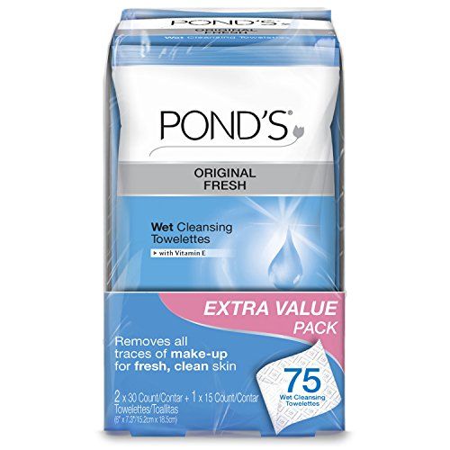 Pond's Wet Cleansing Towelettes, Original Fresh 75 ct