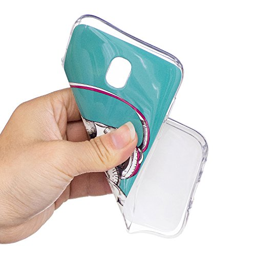mokyo Samsung Galaxy J72017/j730móvil, antigolpes Luminous bewirken la oscuridad, para silicona funda con [libre Stylus Lápiz] Niedlich patrón ultrafina suave TPU Gel Bumper Goma Funda teléfono móvi Musikhund