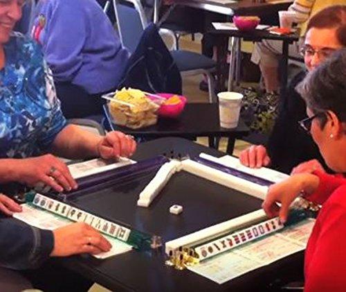 Complete American Mahjong Set in Aluminum Case, 166 Tiles...