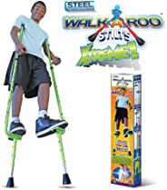Walkaroo Xtreme Steel Balance Stilts with Height Adjustable Vert Lifters by Air Kicks, Assorted Colors (Red or