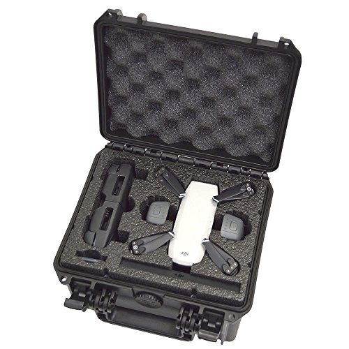 MY CASE BUILDER DORO D0907-6 Drone Carrier Travel Case For DJI Spark - Waterproof Protector Carrying Case With Dual-Level Custom Foam Insert