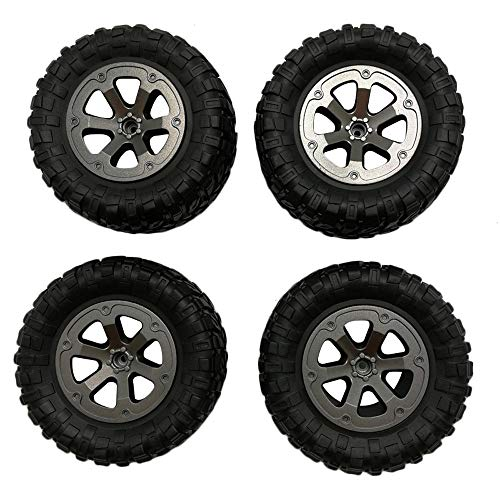 Price comparison product image LtrottedJ 4pcs Upgrade Track Wheels Spare Parts for 1 / 16 WPL B14 C24 Military Truck RC Carare Parts for 1 / 16 WPL B14 C24 Military Truck RC Car