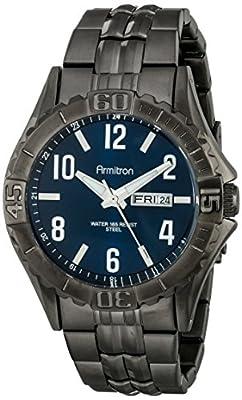 Armitron Men's 20/5070NVDG Day/Date Function Dial Dark Gunmetal Bracelet Watch