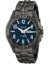 Armitron Mens 20/5070NVDG Day/Date Function Dial Dark Gunmetal Bracelet Watch