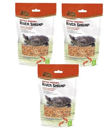(3 Pack) Zilla Reptile Food Munchies River Shrimp 2 Ounce each