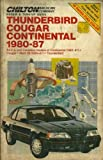 Ford Thunderbird, Mercury Cougar, Lincoln Continental-Mark VII, 1980-87, Kerry A. Freeman and Richard J. Rivele, 0801978149