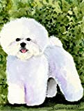 Caroline's Treasures SS8712CHF Bichon Frise Flag Canvas, Large, Multicolor For Sale
