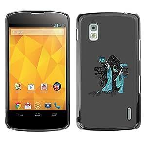 TECHCASE**Cubierta de la caja de protección la piel dura para el ** LG Google Nexus 4 E960 ** Mystical Japanese Geisha