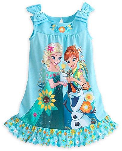 Disney Store Frozen Fever Anna Elsa Amp Olaf Nightshirt