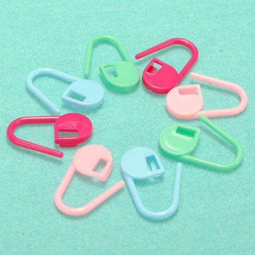 30pcs Plastic Knitting Crochet Locking Stitch Marker Holder