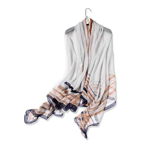 prezzo più basso b4565 dc99e Ztweijin Nuove Sciarpe di Seta per Le Donne Belle Scialli a ...