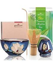 Goodwei Zestaw do ceremonii parzenia herbaty z prawdziwą organiczną japońską matchą