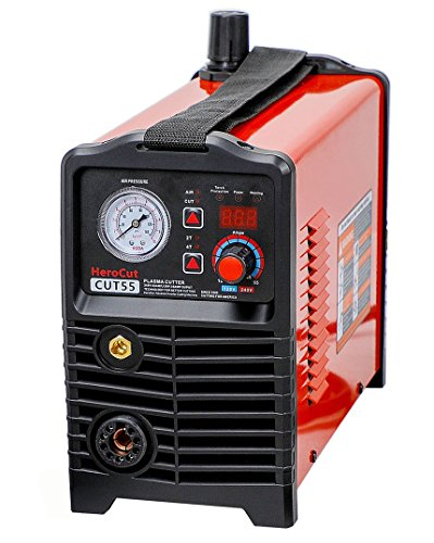HeroCut 120/240v CNC Plasma Cutter Non-HF Pilot Arc Blowback Arc Starting Inverter Plasma Cutter 50Amps Dual Voltage 120v / 240v 3/4'' Clean Cut, Can Work With CNC table.