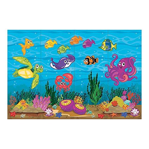 Fun Express - Under The Sea Dar Set - Party Decor - Wall Decor - Scene Setters - 4 Pieces ()