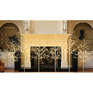 Lightshare 5 ft. LED Tree - Starlit Tree Collection, 5 feet, Warm White 2