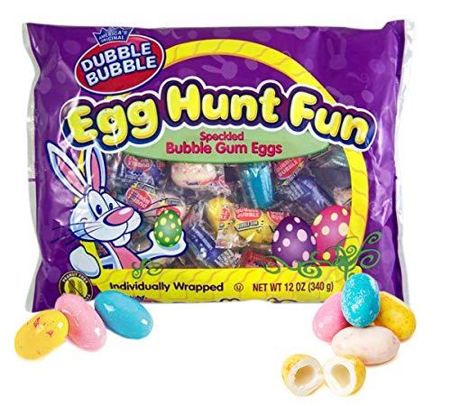 Dubble Bubble Gum Easter Eggs Candy Egg Hunt Speckled Bubble Gum, 12 oz Bag