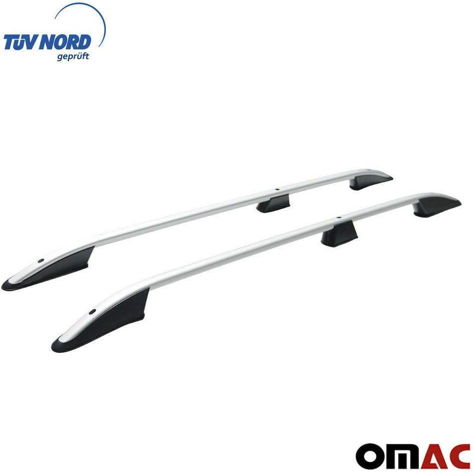 con Certificazione T/ÜV Abe Extra Lunghe OMAC GmbH Colore: Argento Set Barre Portapacchi per Vito Viano W639 W447 dal 2003