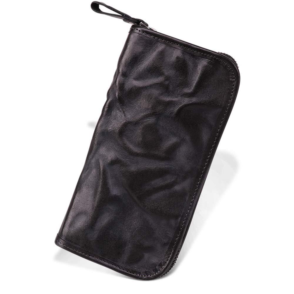 Mens Slim Slim Slim Front Pocket Wallet ID Window Kartenetui Herren Lange Leder Brieftasche Reißverschluss Schnalle Große Kapazität Kartenhalter Bifold Multi-karte Große kapazität Multi-funktion Dünne Brieftasc B07MVZ6ZQ3 Geldbrsen 5b072b