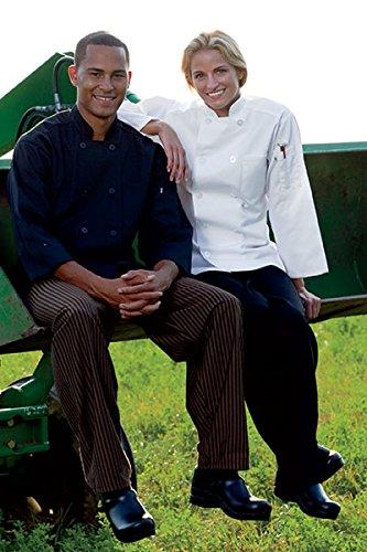(Averill's Sharper Uniforms Men's Three Quarter Sleeve Poly/Cotton Chef Coat Large (44-46))