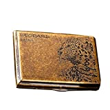 vapor blu cig - [Gold Leopard]Fashion Durable Nobility Bronze Men's Cigarette Case Cig Holder
