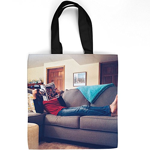Home - Tote Bag - Picture Photography Shopping Gym Work - 16x16 Inch (D41D8) ()