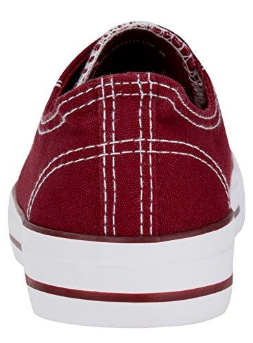 para lona Ultra con punta roja de goma oodji 4910b de zapatos mujer RtHdwtqIx