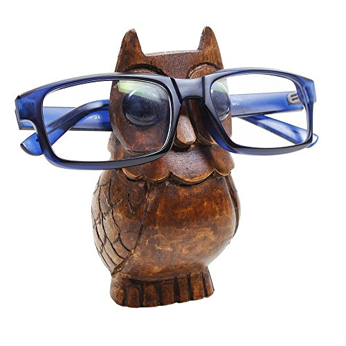 lass Holder Stand/Wooden Spectacle Holder/Spectacle Stand/Eyeglass Holders for Desk/Desk Eyeglass Holder/Handmade Beard Stand for Office Home Décor (Design 5) ()
