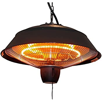 Ener G+ Infrared Outdoor Ceiling Electric Patio Heater, Hammered Brown