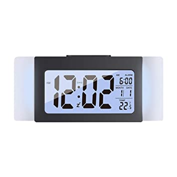 Amazon com: LIOOBO Mini LCD Alarm Clock Temperature Clock