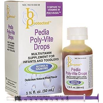 Amazon Com B Protected Pedia Poly Vite Drops 1 2 3 Fl Oz