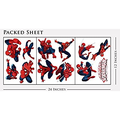 Spiderman Sticker Pack for Kids Room Wall Decor | Peel and Stick Wall Decal for Ultimate Spider-man Party Decoration by Dekosh: Arts, Crafts & Sewing