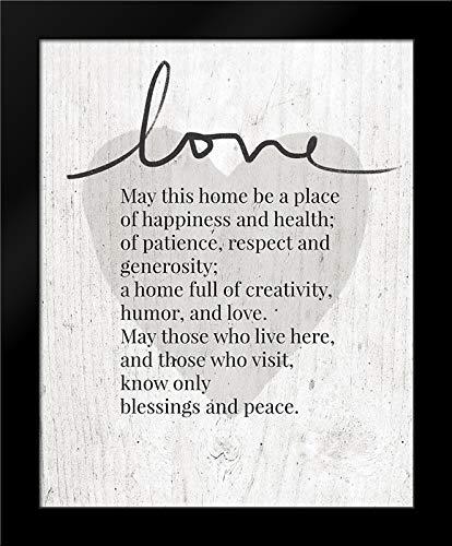Home Blessing Rustic Framed Art Print by Woods, Linda