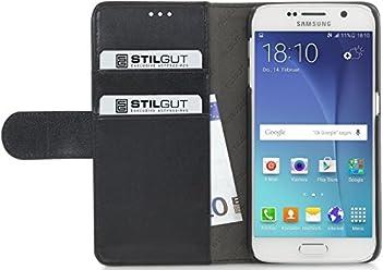 StilGut Talis, custodia a portafoglio per Samsung Galaxy S6, nero