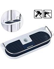 Duschablage für die Duschstange, JRing Ohne Bohren Dusche Ablage Badezimmer Dusche Rack Verstellbar Höhe, Für Duschstange mit Durchmesser von 19mm - 25mm
