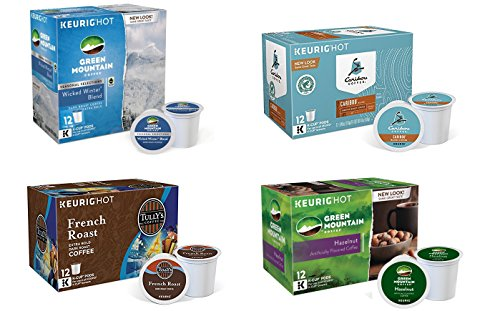 Keurig Distinct-Serve K-Cup Pods, Variety Pack, (4 Boxes of 12 Pods) 48 Count