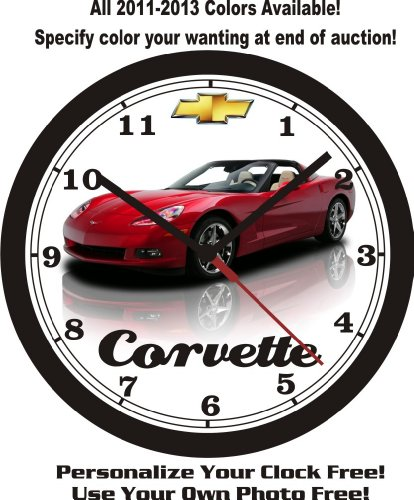 2012-2013 CHEVROLET CORVETTE WALL CLOCK-FREE USA SHIP!