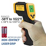 PARTYSAVING -58℉ - 1022℉ (-50℃ - 550℃) Non-Contact Infrared Thermometer Temperature Gun with Precision Laser Technology Industrial Automotive Home, APL1349