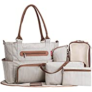 SoHo diaper bag Grand Central Station 7 pieces set nappy tote bag large  capacity for baby