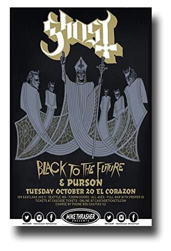 Seattle Concert Poster - Ghost B.C. Poster Concert Promo 11 x 17 inches Band BC Seattle October 2015